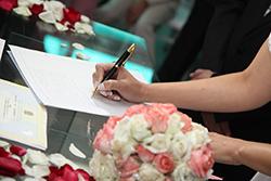 handtekening huwelijk