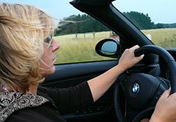 Auto vrouw